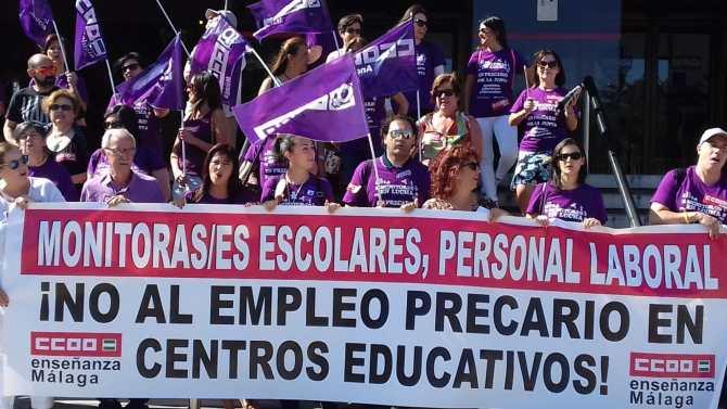 CCOO Enseñanza convoca huelga entre las monitoras escolares a tiempo parcial