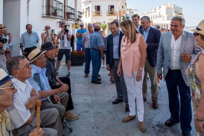 Susana Díaz visita Algarrobo y Frigiliana