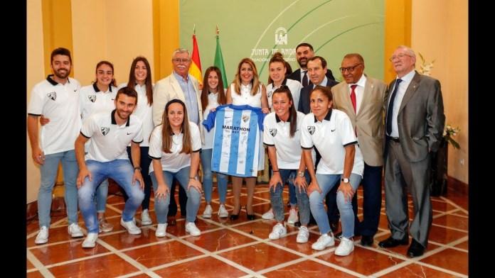 Susana Díaz homenajea al Málaga Femenino por su ascenso