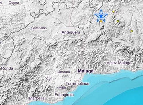Sentido en la Axarquía un terremoto de 3.8 grados con epicentro en Loja