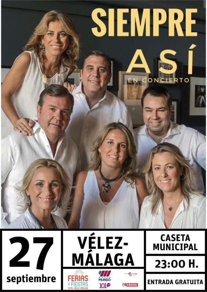 Antonio José, Siempre Así, Daniel J, Javier Ojeda y Marisol Bizcocho, artistas protagonistas de la Real Feria de San Miguel de Vélez-Málaga
