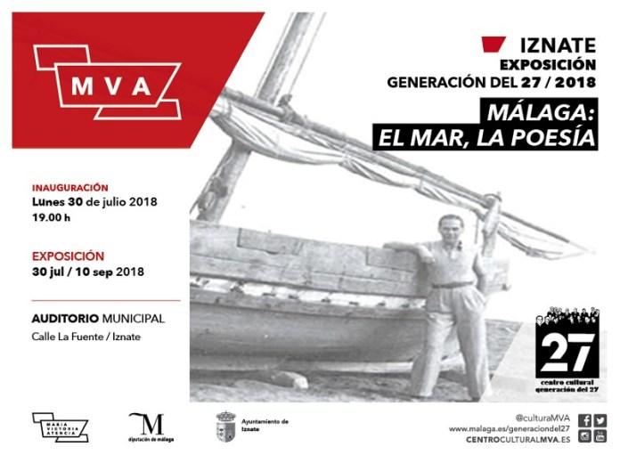 Iznate acoge la exposición 'Málaga: el Mar, la Poesía' organizada por el 27 de la Diputación