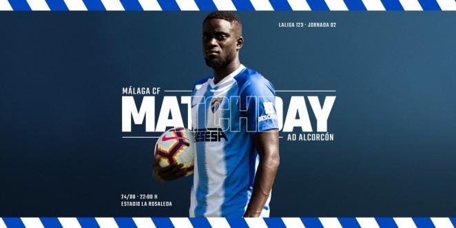 El Málaga CF recibe a la AD Alcorcón en La Rosaleda