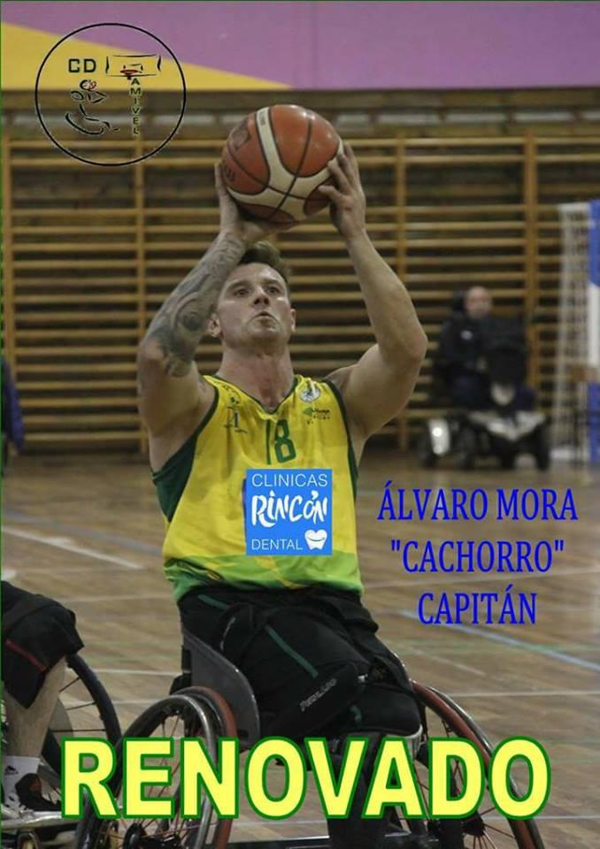 Álvaro Mora «Cachorro» renueva con el Rincón Dental AMIVEL
