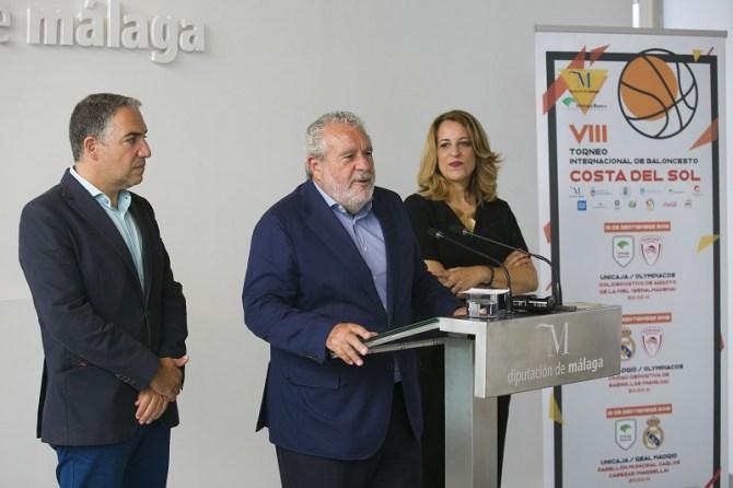 Acuerdo entre la Diputación de Málaga y Canal Sur para la retransmisión del VIII Torneo Internacional de Baloncesto Costa del Sol en toda Andalucía