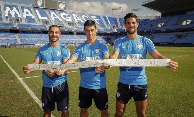 La plantilla del Málaga C.F. colabora comprando entradas por las inundaciones