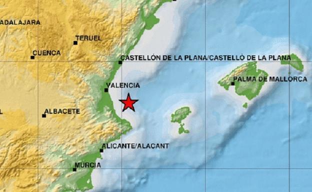 Terremoto de magnitud 4 en el golfo de Valencia