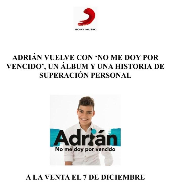 El veleño Adrián Martín vuelve con 'No me doy por vencido', una historia de superación personal