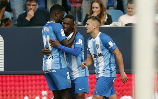 Los goles de Koné y Adrián dan el séptimo triunfo en siete partidos ligueros del Málaga C.F.