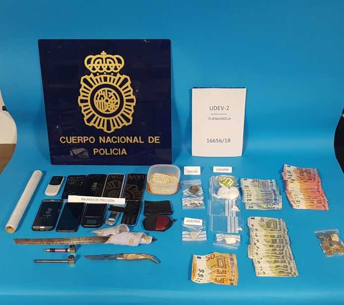 La Policía Nacional detiene a los integrantes de un clan familiar dedicado a la venta de cocaína y heroína que utilizaba a menores para trasladar el estupefaciente de un lugar a otro