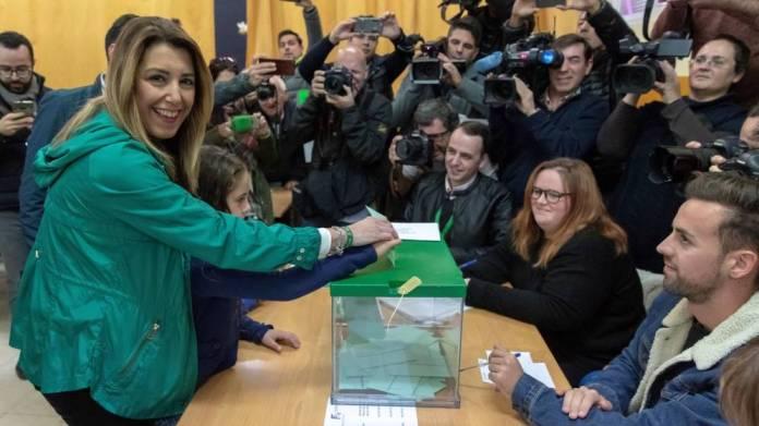 La fuerte caída del PSOE en Andalucía provoca un vuelco electoral