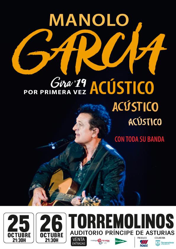 Las entradas para los dos conciertos de Manolo García en Torremolinos salen mañana a la venta