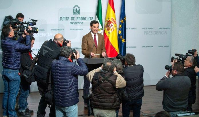 El presidente de la Junta, Juanma Moreno, ha dado a conocer esta mañana la composición de su Gobierno.