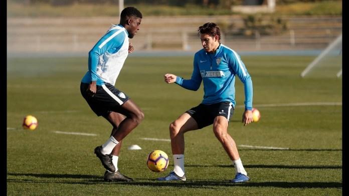 Primer entrenamiento de 2019 para la plantilla del Málaga CF