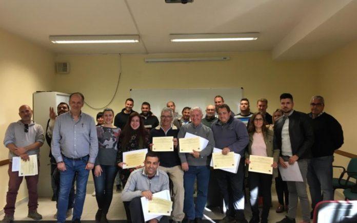 Entregados los diplomas del Curso de Aplicador de Productos Fitosanitarios en Nerja