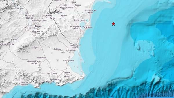 Un terremoto de magnitud 4,2 se nota en las provincias de Alicante y Murcia