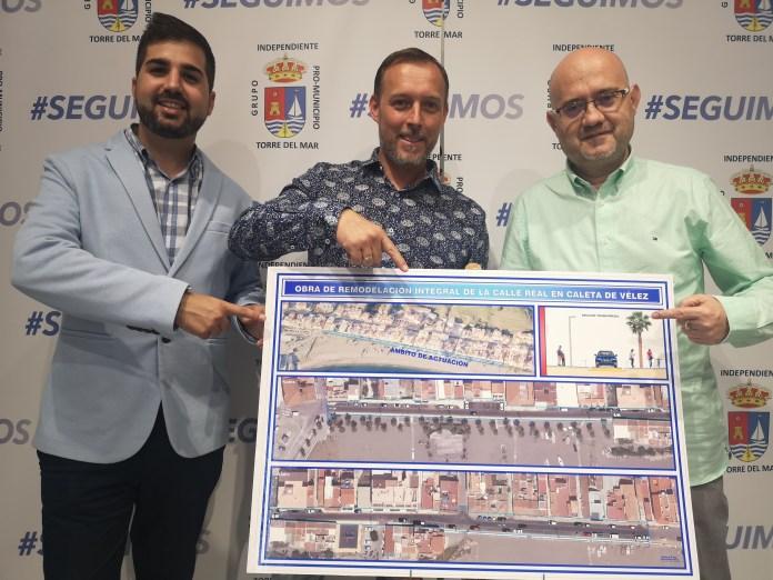 El GIPMTM convertirá la calle Real de La Caleta de Vélez en un amplio bulevar junto al mar
