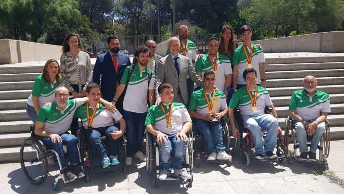 Recepción del consejero de Deportes de la Junta de Andalucía a la Selección Andaluza BSR Escolares
