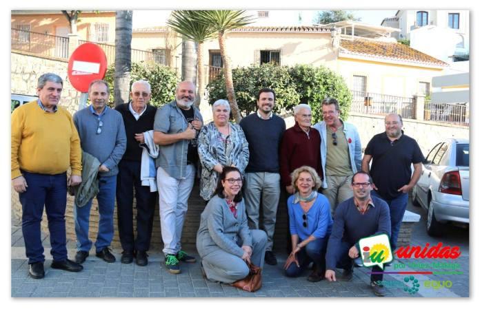 Alberto Garzón muestra su apoyo a la candidatura de Izquierda Unida Vélez-Málaga