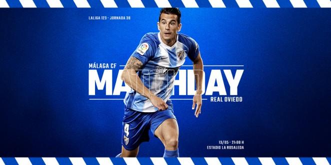 El Málaga CF recibe en La Rosaleda al Real Oviedo