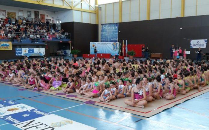 550 participantes en el  Torneo-Exhibición de Gimnasia Rítmica celebrado en Nerja