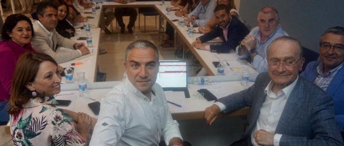 Imagen del Comité de Dirección del PP de Málaga reunido para analizar los resultados de las Elecciones Municipales.
