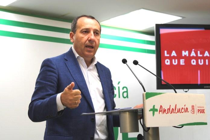 El secretario general del PSOE de Málaga, José Luis Ruiz Espejo.