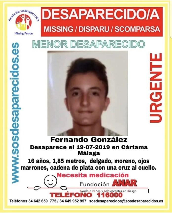 Encuentran al joven desaparecido en Cártama
