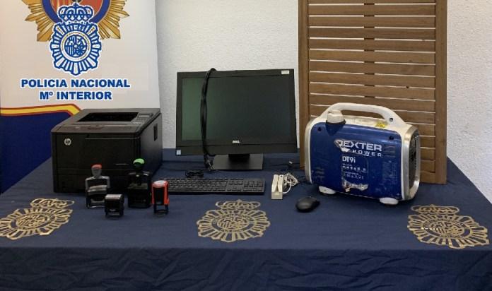 La Policía Nacional recupera en un registro en Marbella un equipo informático sustraído en un hospital que almacenaba datos de pacientes