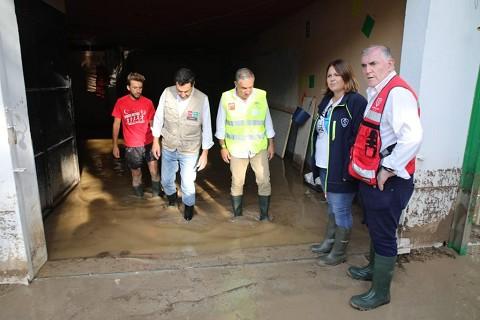 La Diputación activa ayudas especiales para los ayuntamientos afectados por las lluvias de este fin de semana