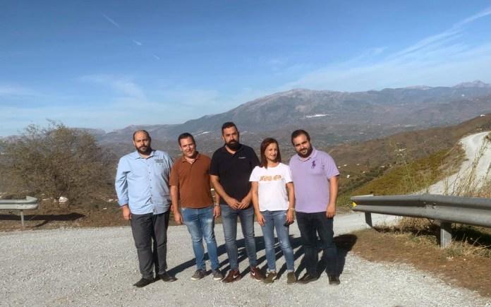 El PSOE plantea a la Diputación convertir en paisajísticas las carreteras de Moclinejo-Almáchar y Cútar-El Borge