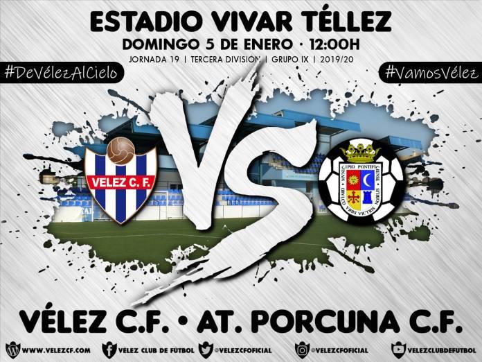 El Vélez C.F. se enfrentará al Atlético Porcuna Club de Fútbol en su primer partido del año