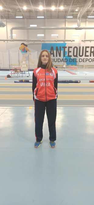 la atleta Andrea Arnold consigue la marca mínima para participar en el campeonato de España Sub' 16, en la prueba de 300 ml
