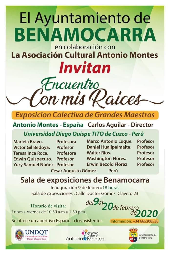 Benamocarra acogerá la exposición colectiva 'Encuentros con Mis Raices'