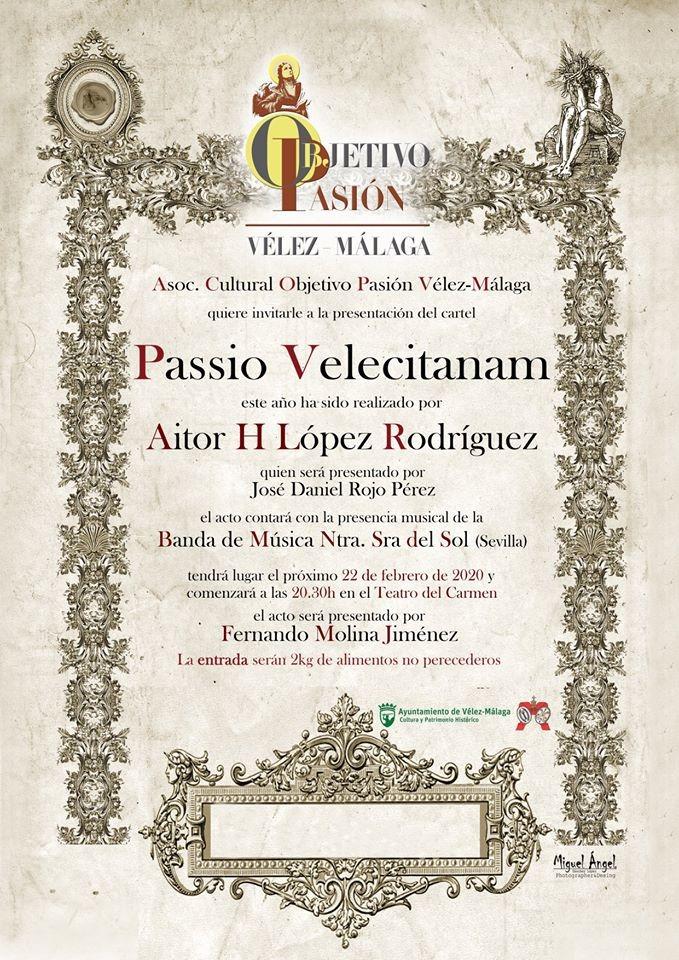 Hoy se presenta el cartel 'Passio Velecitanam' con la Cofradía de Los Estudiantes como protagonista