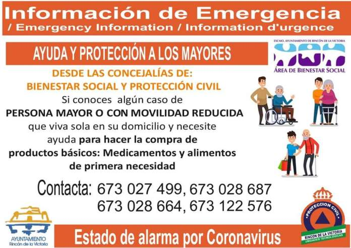 Plan de Ayuda a Mayores de Rincón de la Victoria atiende a más de mil llamadas telefónicas en una semana de las personas de mayor vulnerabilidad del municipio