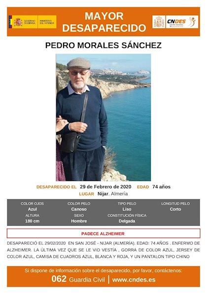 Buscan a un anciano con Alzheimer desaparecido desde el sábado en Níjar