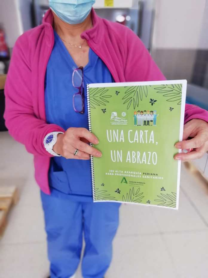 Alumnos del IES Alta Axarquía de Periana mandan cartas de apoyo a los pacientes y a los profesionales del Área Sanitaria Málaga-Axarquía