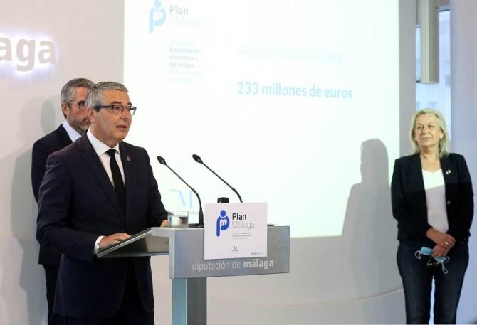 La Diputación de Málaga moviliza 233 millones de euros para la recuperación económica y del empleo en la provincia