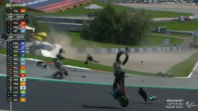 Brutal accidente de MotoGP.