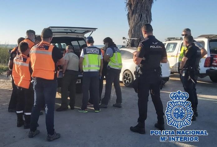 Realizan una batida para localizar a un hombre desaparecido en Málaga