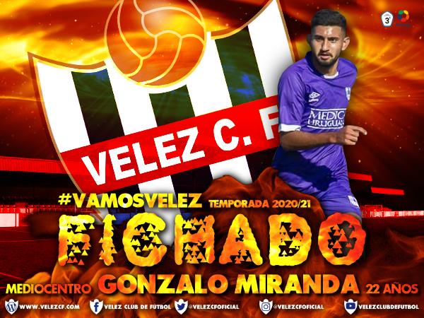 El Vélez CF hace oficial el fichaje del mediocentro Gonzalo Miranda