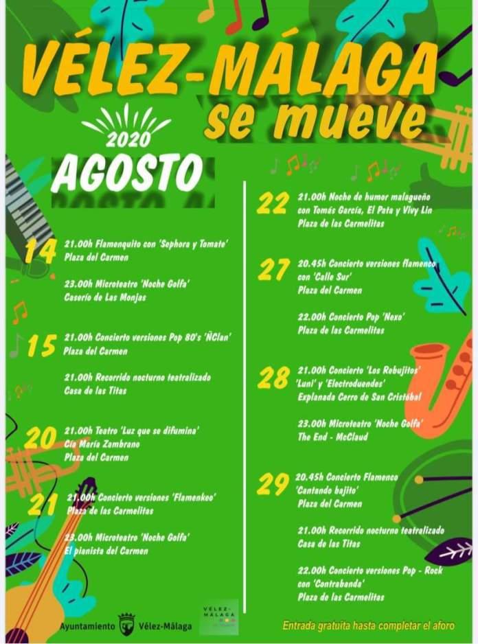 'Vélez-Málaga se mueve' acogerá más de 15 actividades del 14 al 29 de agosto