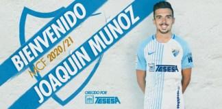 El Málaga CF incorpora para la temporada 20/21 a Joaquín Muñoz, cedido por la SD Huesca, completando el cupo de 18 profesionales que le permite LaLiga.