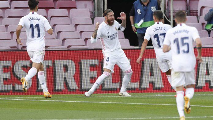 Un doble agarrón entre Ramos y Lenglet fue solucionado por el videoarbitraje con el penalti decisivo.
