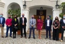 La consejera delegada de Turismo Costa del Sol, Margarita del Cid, dio la bienvenida a los periodistas en un acto organizado junto con la Mancomunidad