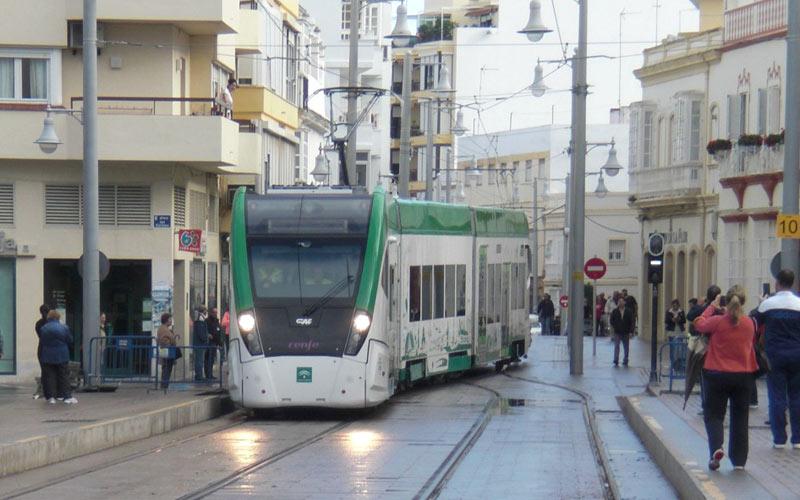 Resultado de imagen de tranvía de la Bahía de Cádiz