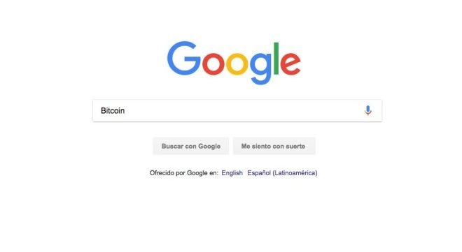 Búsquedas de palabra Bitcoin en Google