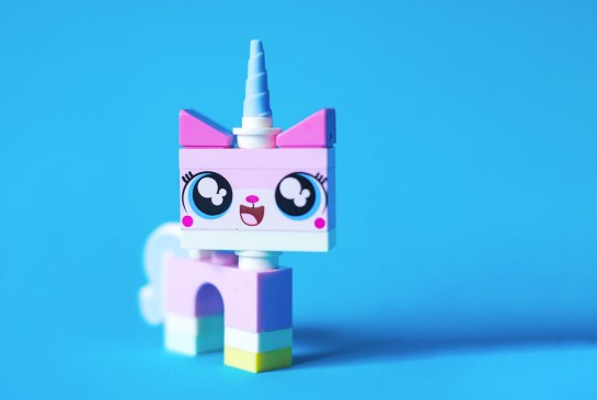 cute lego unicorn on a blue background royalty free via unsplash