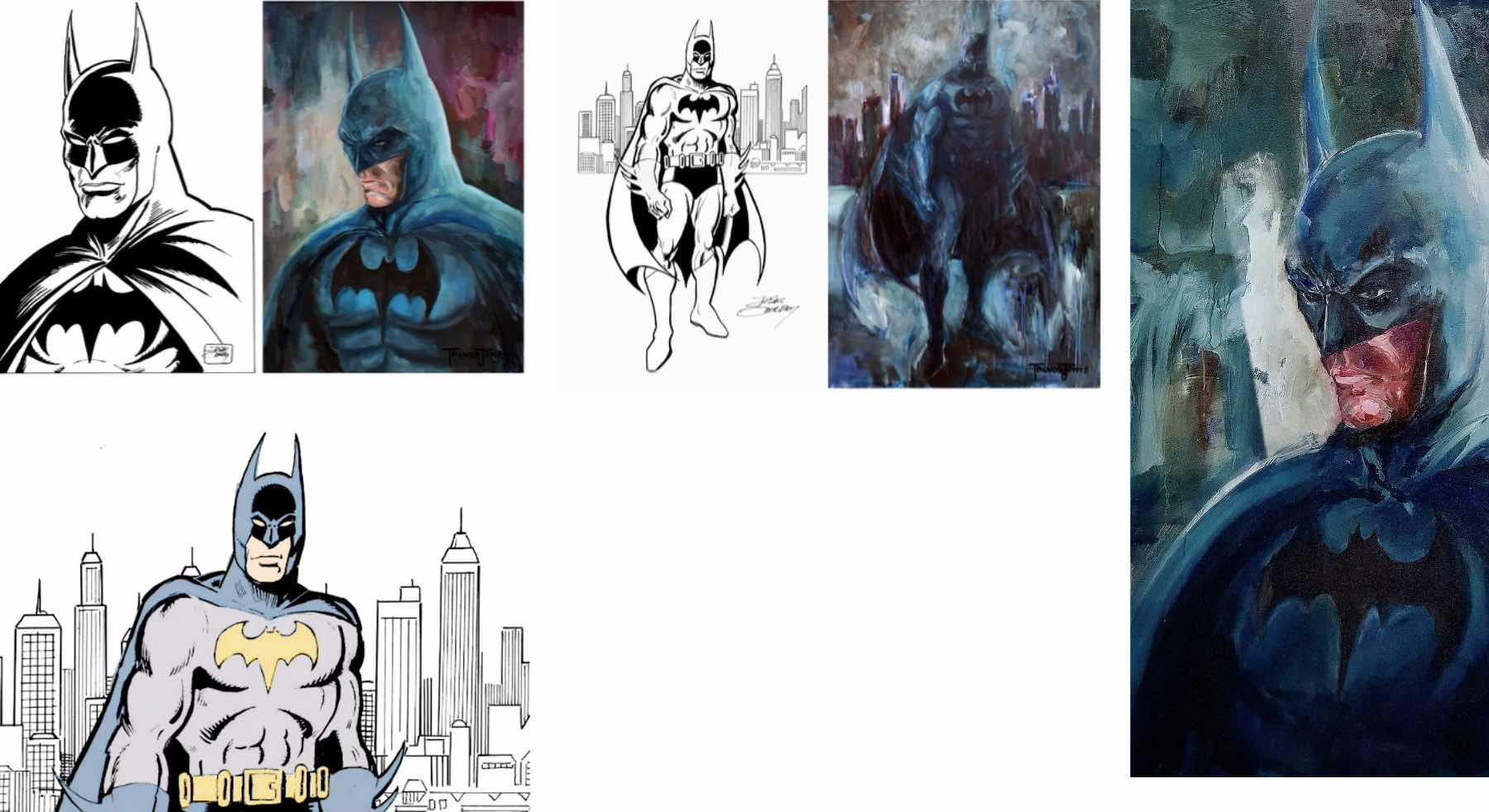 arte digital Batman